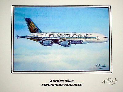 KUNSTDRUCK - Airbus A380, Singapore Airlines