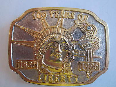 Statue Of Liberty 1886-1996 100 Years Of Freedom Belt Buckle