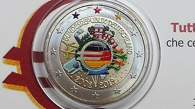 2 euro 2012 Germania color farbe couleur Allemagne Alemania Deutschland Germany