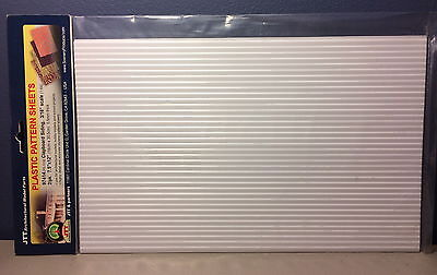 "JTT SCENERY 97414 CLAPBOARD SIDING 3/16"" ARCH SCALE (2) 7.5""x12"" SHEETS JTT97414"