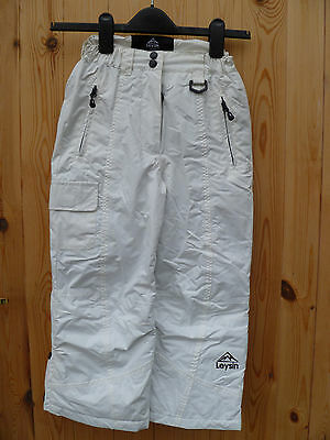 Leysin White Kids Ski Board Pants Waterproof Breathable Insulated 3 4 5 6 New