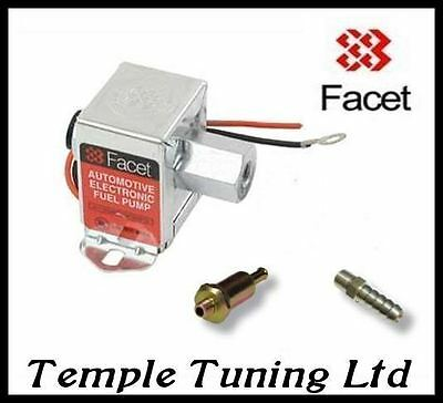 FACET 1.5 - 4psi Fuel Pump 8mm filter & union 40104 solid state electric pump