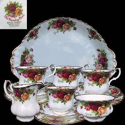 ROYAL ALBERT Old Country Rose 15pc Tea Set 1st Eng c1962