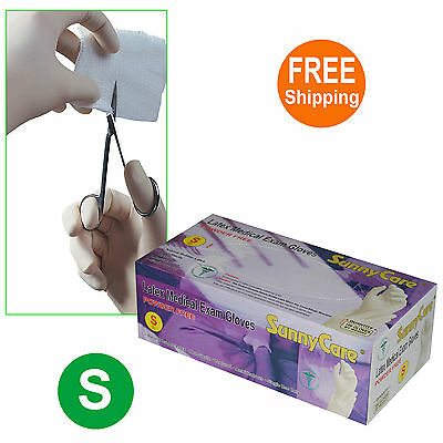 SunnyCare #6601 Disposable Powder-Free Latex Medical Exam Gloves (Nitrile Free)S