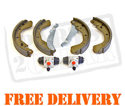 Vauxhall Corsa C 00-06 Rear Brake Shoes & 2 X Wheel Cylinders Non Abs Kit