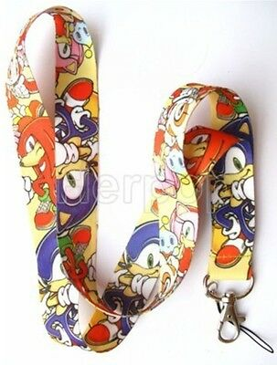 New Lot 10 pcs Sonic the Mobile Phone Neck Strap Charms