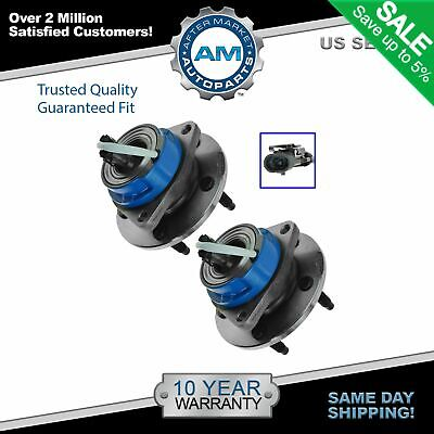TRQ Front Rear Wheel Hub & Bearing Assembly Pair Set for Chevy Pontiac w/ ABS