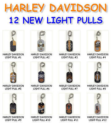 New Harley Davidson Metal Dog Tag Light Fan Lamp Pull Connector You Pick One