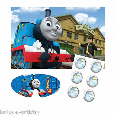 14 Piece Thomas The Tank Engine Birthday FRIENDS 12 Player Poster Party Game