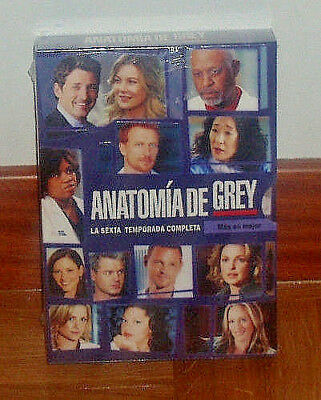 Anatomia De Grey 6º Temporada Completa 6 Dvd Nuevo Precintado New Sealed-Series