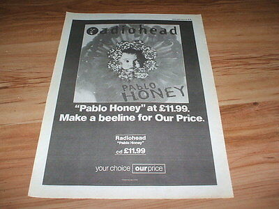 Radiohead-1993 poster size press advert