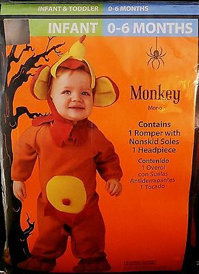 Halloween Costume Infant  0-6 Months   Monkey
