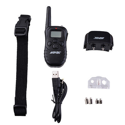 New Rechargeable LCD 100LV SHOCK&VIBRA REMOTE DOG TRAINING COLLAR