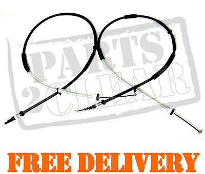 FIAT STILO 2 x REAR HAND BRAKE CABLES 2001-2007 1.2 1.4 1.6 1.8 1.9 TD 2.4
