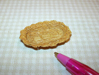 Miniature Resin Wicker Basket (Shallow Oval): A+ Value! DOLLHOUSE Miniatures