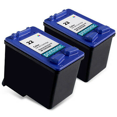 2pk Compatible for HP 22 C9352AN color ink cartridge