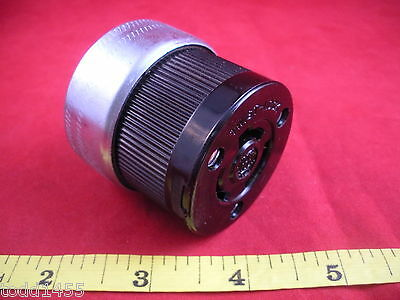 Twist-Lock Hubbell 7313 Connector 3 wire Bakelite 20a 125/250V 20 amp outlet