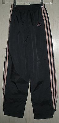 GIRLS adidas NAVY BLUE MESH LINED ATHLETIC / WIND PANTS   SIZE S