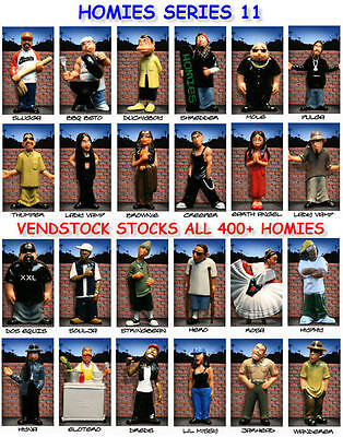 Homies Series 11 Minifigure New Retired You Pick One Figure Or The Complete Set!