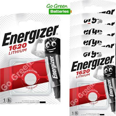 6 x Energizer 1620 CR1620 3V Lithium Coin Cell Battery DL1620 KCR1620, BR1620