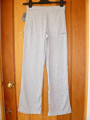 La Gear Grey Interlock Yoga Lounge Jog Sports Sweat Track Pants 11 12 13 Years