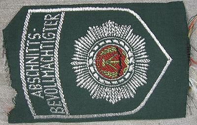1950's German Military Abschnitts Bevollmachtigter Patch