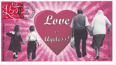 Jvc Cachets - 2012 Love Ribbons Stamp First Day Cover Fdc L.e. Of Only 20 - #1