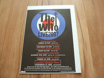 The Who-2007 magazine advert
