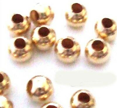 500pcs mini 2mm 1/20 GF 14k yellow gold filled round bead spacers GS01-500