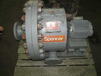 Used /Tested Spencer Gas Blower G-2507-HMOD  G2507HMOD  7.5hp  3500RPM