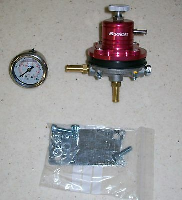 FSE Fuel Pressure Regulator Red & Gauge 1.5 - 6 bar