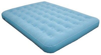 Outback Queen Flocked Velour Air Bed Inflatable Mattress Camping Mat bestway