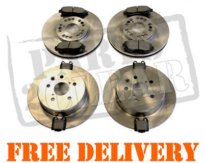 LEXUS IS200 IS300 FRONT & REAR BRAKE DISCS + PADS SET KIT 296mm Vented 1999-2005