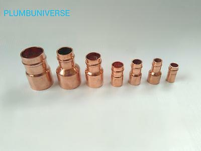 Solder Ring Fittings Reducer Coupling / Pipe Fittings (Various Sizes Available)