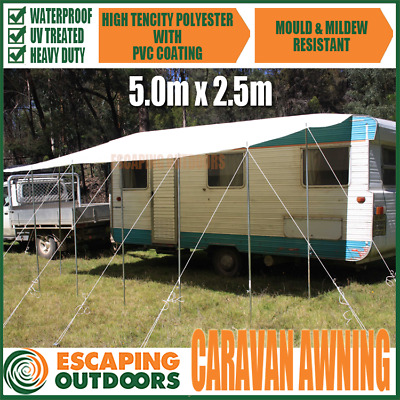 Caravan or RV Awning 5.0 x 2.5m Annexe & shade for your Motorhome, Camper, Float