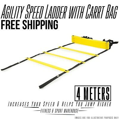 Agility Speed Ladder 4 Meters with Carry Bag Tool for Sports Training Equipment