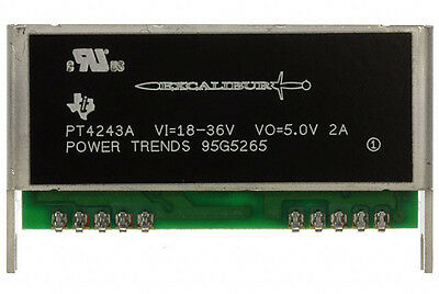 PT4243A TI Excalibur 5V 2A Isolated DC/DC Converter 10W Power Trends DCDC PT4243