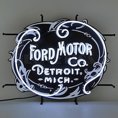 Neon sign Ford Motor Company Trucks Mustang 1903 logo Licensed Neonetics lamp