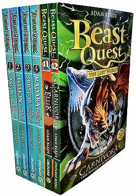 Beast Quest Series 7 Collection 6 Books Set (37-42) by Adam Blade Convol, Ellik