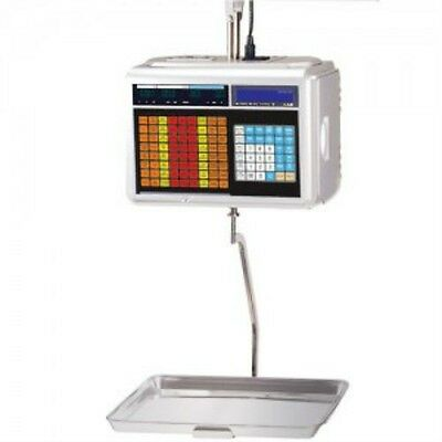 60 LB x 0.02 LB Cas CL 5000H NTEP Hanging Label Printing Scale Pole & Labels NEW