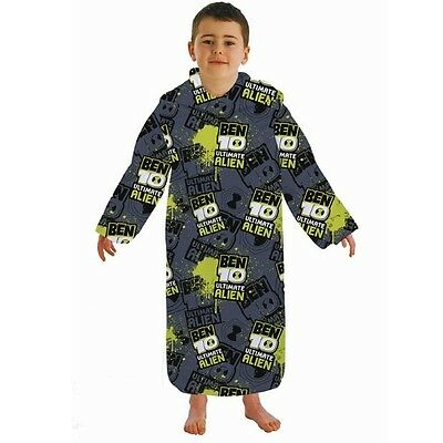 Ben 10 Ten Kids Boys Childrens Cuddle Sleeves Fleece Snug Snuggle Blanket Wrap