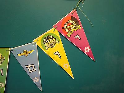 Israel vtg Paper IDF Zahal Flags Navy air force paratrooper independence