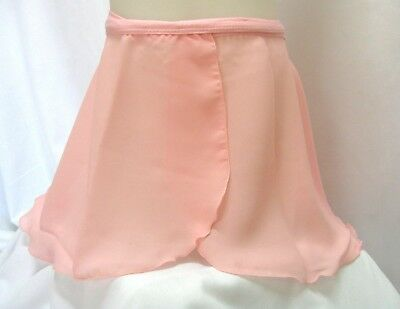 Ladies' Dance Wrap Skirt with Tie Back, Ballet Pink, Danse Corps, All Sizes, New