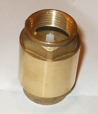 "Brass non-return valve hot cold water 110degC rating 3/4""bsp NRV75HT"