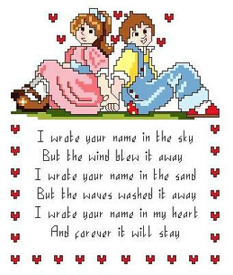 Love Cross Stitch Pattern