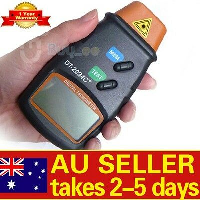 LCD Digital Laser Photo Tachometer Non Contact RPM Tach Last Max Min Value