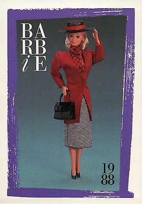 "Barbie Collectible Fashion Card  /"" Barbie Citystyle Fashions /""  1988"
