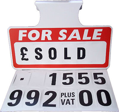 1 Red For Sale Sign Board, Car Price/Pricing Sun Visor, Vehicle/Auto Price Kit