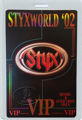 STYX 2002 STYXWORLD TOUR LAMINATED BACKSTAGE PASS All Access