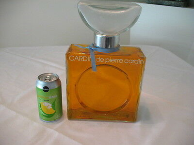 """Large 12"""" Perfume Display Glass Bottle Store Display Dummy Pierre Cardin"""